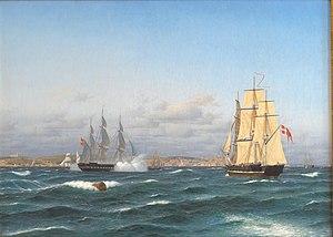 Carl Dahl - Image: Dahl Lissabons rhed 1843