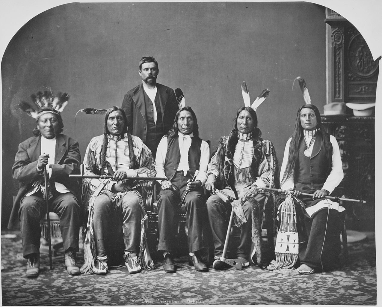 File:Dakota delegation. Identified, l to r, Little Wound ...