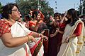 Dancing Devotees - Durga Idol Immersion Ceremony - Baja Kadamtala Ghat - Kolkata 2012-10-24 1288.JPG