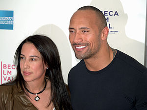 English: Dwayne Johnson and his wife, Dany Gar...