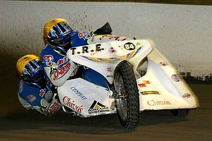 Sidecar speedway - 2008 World Champions Darrin Treloar and Justin Plaisted of Australia