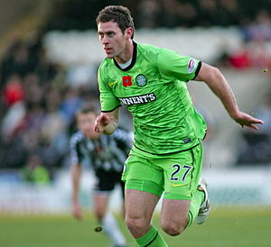 Daryl Murphy - Murphy playing for Celtic in 2010