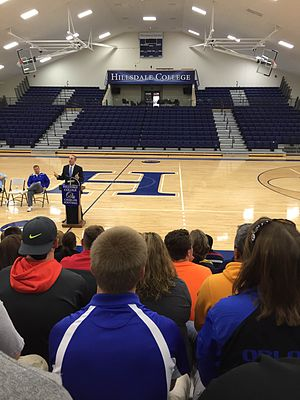 Hillsdale Chargers - The home seating in the newly renovated Dawn Tibbetts Potter Arena