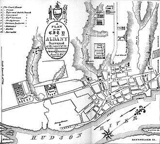 Simeon De Witt - Image: De Wittmapof Albany 1790