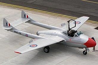 Rhodesian Air Force - De Havilland Vampire T11 (DH-115) Formerly of the Rhodesian/Zimbabwe Air Force.