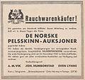 De Norske Pelsskinn-Auksjoner, Oslo, 1933 (advertising).jpg