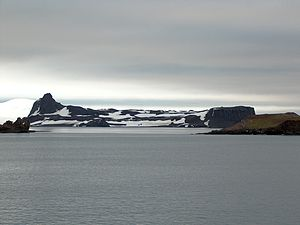 Dee Island - Dee Island from English Strait, with Burro Peaks on the left and Greenwich Island in the background