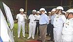 Defence Secretary reviews indigenous Aircraft Carrier project at Kochi, 2018 (2).jpg