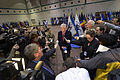 Defense Secretary Chuck Hagel talks to reporters after visiting troops on Fort Eustis, Va 140225-D-NI589-1428c.jpg