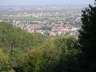 Deidesheim - The Palatinate Forest lies to Deidesheim's west