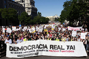 English: Democracia real YA demonstration in M...