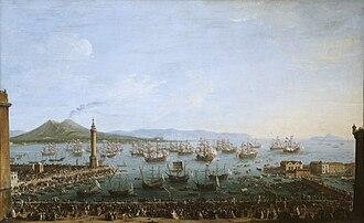 Antonio Joli - Antonio Joli, Departure of Charles III of Spain from Naples, Museo del Prado, 1759