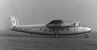 Handley Page Marathon - Derby Aviation H.P.R.1 Marathon at Manchester Airport in October 1956.