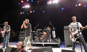 Descendents in 2014. Left to right: Egerton, Aukerman, Stevenson, and Alvarez.