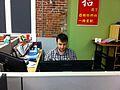 Deskana at Philippe's desk.jpg