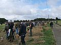 Detectorists lined up at the King Alfred the Great rally.jpg