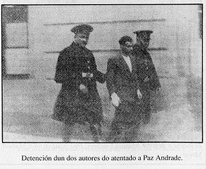 Detención dun dos autores do atentado a Paz Andrade.