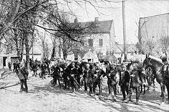 Feldgendarmerie - Deutsche Feldgendarmerie in Neu-Sandec Frühjahr 1915