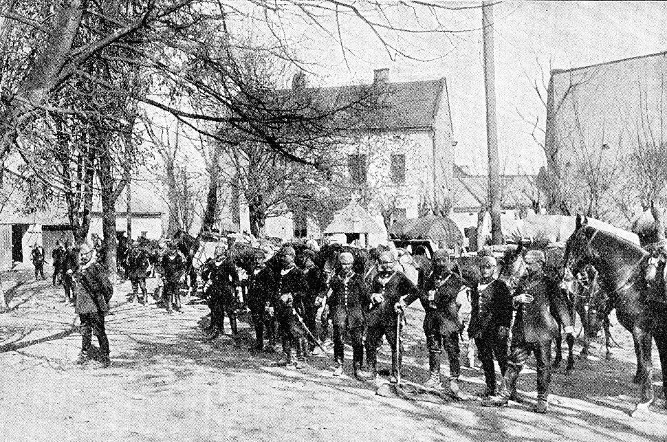 Deutsche Feldgendarmerie in Neu-Sandec Frühjahr 1915
