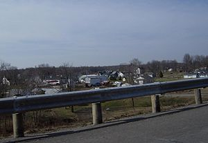 Diamond, Ohio - View of parts of Diamond from I-76