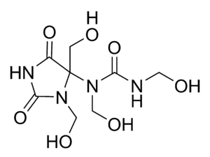 Diazolidinyl urea - newly determined structure
