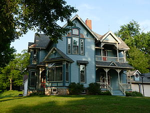 National Register of Historic Places listings in Clark County, Wisconsin - Image: Dickinson Hoesly House
