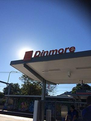 Dinmore railway station - Front view platform 1 August 2017