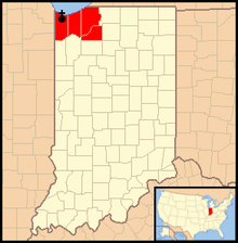 Territory of the Diocese of Gary
