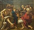 Dirck van Baburen - Christ among the Doctors - Kristus som barn i tempelet - IMG 9627-nasjonalmuseet oslo (cropped).jpg