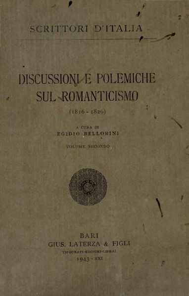 File:Discussioni e polemiche sul Romanticismo, Vol. II, 1943 – BEIC 1813091.djvu