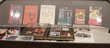 Display case at the Canadian Lesbian and Gay Archives