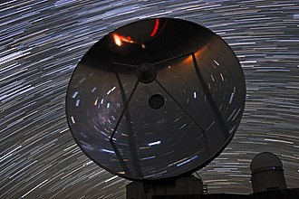 Swedish-ESO Submillimetre Telescope - Image: Dizzying Star Trails over SEST