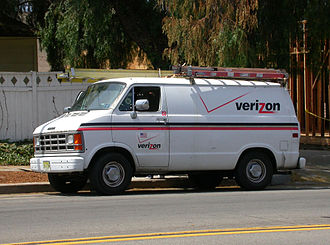 Verizon Communications - Verizon service van