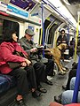 Dog in a wheelchair, Piccadilly Line, London Underground.jpg