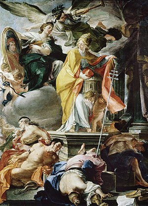 Domenico Antonio Vaccaro - Papacy of Clement XI vanquishes Heresy