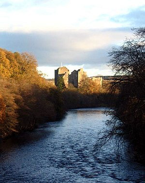 Doune Castle - Doune Castle sited above the River Teith