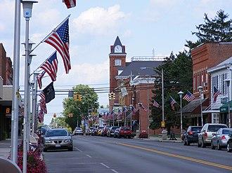 Bluffton, Ohio - Main Street in downtown