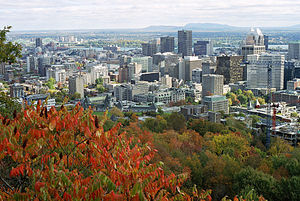 Montreal Urban Community - Downtown Montreal seen from Mont Royal
