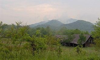 Del Rio, Tennessee - Stone Mountain rising prominently above Del Rio