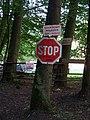 Dražičky, značky na stezce podél Lužnice.jpg