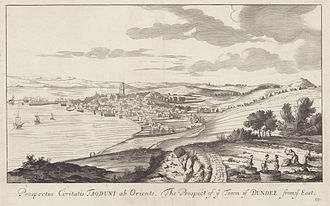 Dundee - Dundee in 1693 by John Slezer.