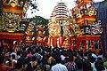 Durga Puja Pandal with Spectators - Tridhara Sammilani - Manohar Pukur Road - Kolkata 2014-10-02 9019.JPG