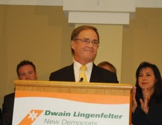 Saskatchewan New Democratic Party - Dwain Lingenfelter, announcing his candidacy for the NDP leadership