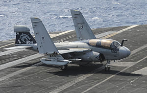 VAQ-142 - Image: EA 6B of VAQ 142 on USS Nimitz (CVN 68) 2013