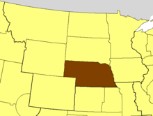 Location of the Diocese of Nebraska