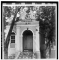 ELEVATION OF NORTHWEST PORCH ON QUEEN'S CROSS STREET - Christiansted Lutheran Church, 4 King Street, Christiansted, St. Croix, VI HABS VI,1-CHRIS,37-3.tif