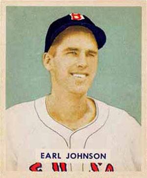 Earl Johnson (baseball) - Image: Earl Johnson 1949
