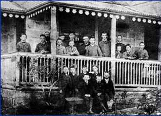 Saint Ignatius' College, Riverview - Earliest known school group photo, c. 1880s