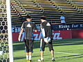 Earthquakes warming up at Philadelphia at SJ 2010-09-15 3.JPG