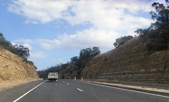 East Derwent Highway - East Derwent Highway at Geilston Bay